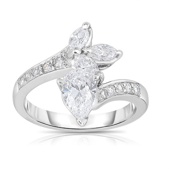 <li>White diamond ring</li> <li>Platinum jewelry</li> <li><a href='http://www.overstock.com/downloads/pdf/2010_RingSizing.pdf'><span class='links'>Click here for ring sizing guide</span></a></li>