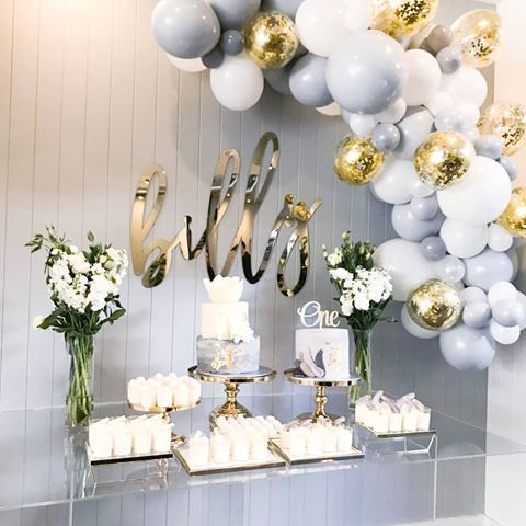 Pin By Trisha Haner On Laura Shower Baby Shower Balloons