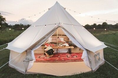Find many great new & used options and get the best deals for US Shipped 4 Season 5M/16.4FT Cotton Canvas Bell Tent with Zipped Ground Sheet at the best online prices at eBay! Free shipping for many products!
