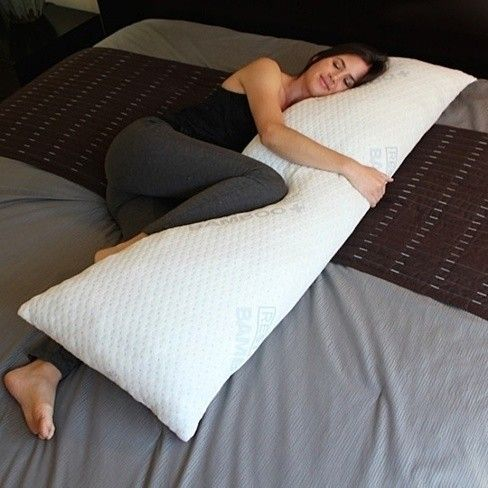 Sleep easy with the rest bamboo body pillow it 39 s been The more pillows you sleep with