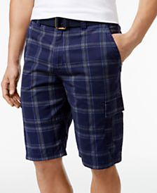American Rag Men's Plaid Cargo Shorts, Only at Macy's