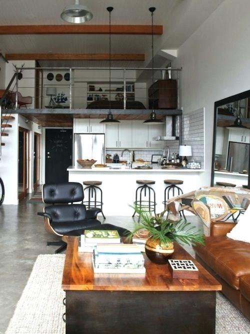 Small Loft Industrial Loft Small Space Studio Apartment Interior