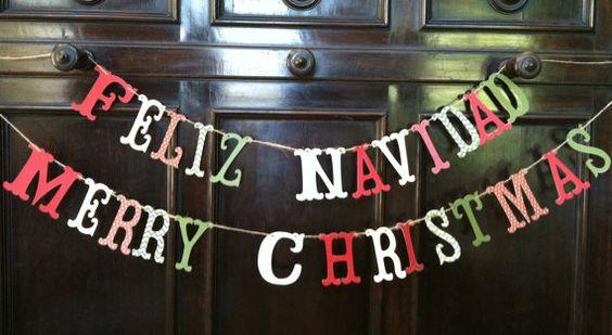 FELIZ NAVIDAD Garland Holiday Banner Photo by melizabethdesign