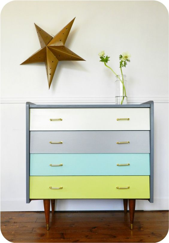 Commode vintage the colour and dressers on pinterest - Relooker une commode ...