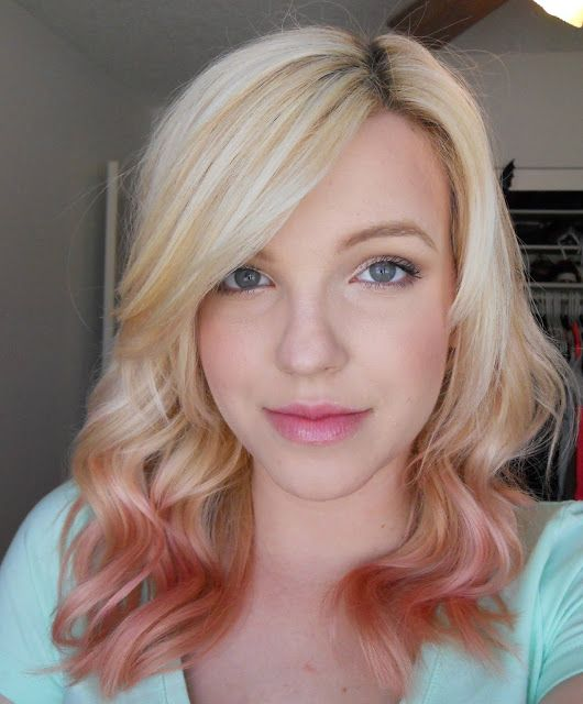 bewitched by blush rose gold hair rose gold blonde