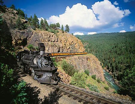 Sur les traces des chercheurs d'or ! Durango & Silverton Narrow Gauge Railroad © Office de Tourisme du Colorado