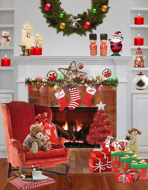 elegante tarjeta de navidad