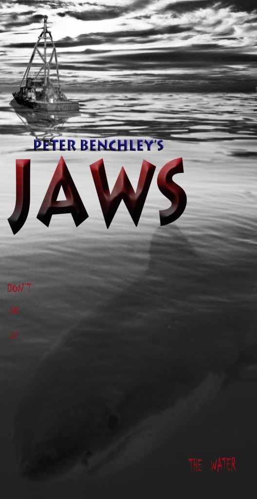 Jaws Book Cover Art : Jaws book cover artwork steven spielberg s