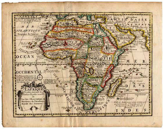Antique Map Africa de Missy de Leth 1749   eBay