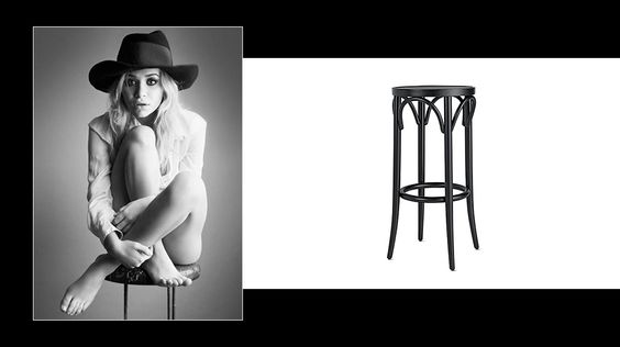 How to decorate your home like an Olsen twin // black barstool