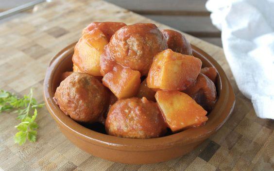 Polpette e patate al rosmarino