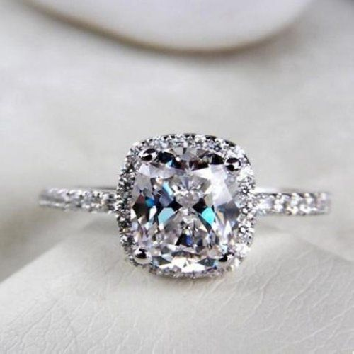 2 25 Ct Cushion Cut Diamond Engagement
