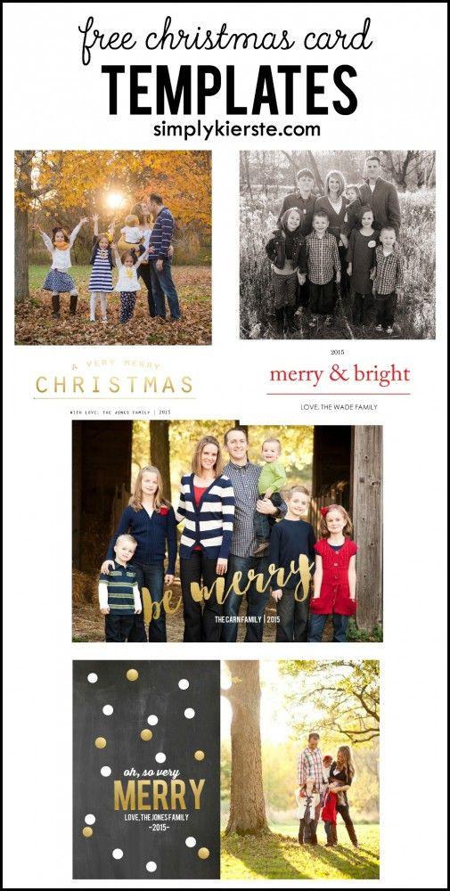 Free christmas card templates free christmas card and christmas card template on pinterest for Free christmas card templates for photoshop