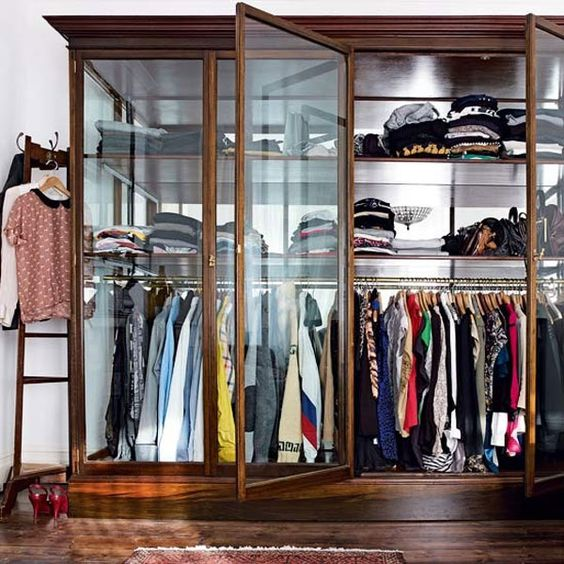 Love the glass doors.. but gotta keep the closet presentable at all times:
