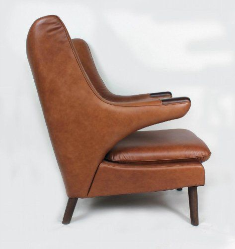 awesome Midcentury Modern Control Brand The Olsen Lounge Chair, Red