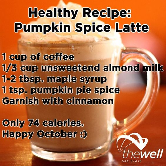 Pumpkin Spice Latte, the healthy way! #pumpkinsmoothieshealthy