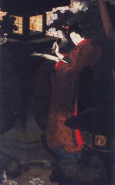 by 葛飾応為(Ohi Katushika), Daughter of Hokusai Katsushika, Japan. S)