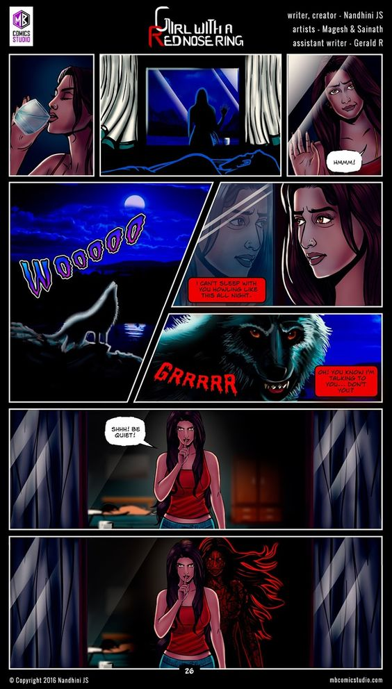 Page 26 - Nandhini's 'Girl with a Red Nose Ring' Comics. (read free comics online, romantic books by indian authors, romantic books for teenegers, horror books in english, best place to download comic books online, comic books for children, comics for children, comics for kids, comic books for kids, best site to download comics, comic books download pdf, graphic novels for adults, graphic novels for children, graphic novels and comics, indian comic books, comic books india, webcomics