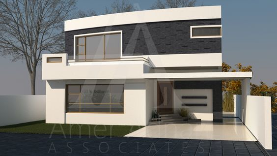 A beautiful house constructed with marvelous front elevation by Amer Adnan Associates.