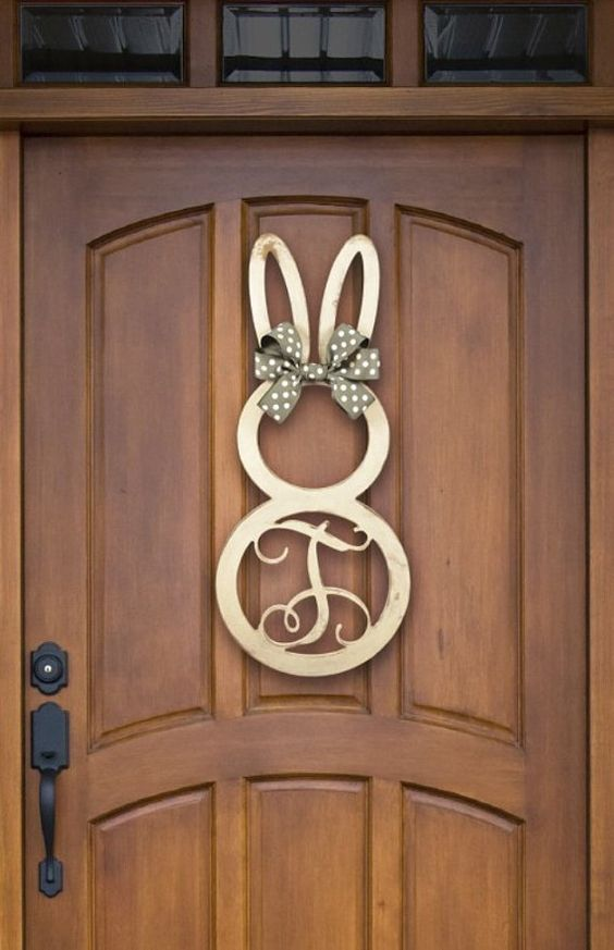 easter bunny monogram unfinished wooden 22 5 by poshpreppie
