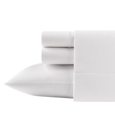 Breakwater Bay Overbrook Shores 200 Thread Count 100% Cotton Sheet Set Size: Queen, Color: White