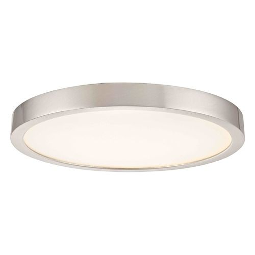 Flat Led Light Surface Mount 10 Inch Round Satin Nickel 2700k 1511lm At Destination Lighting In 2020 Bedroom Light Fixtures Cheap Light Fixtures Flat Ceiling Lights