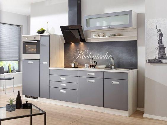 set one by Musterring Küchenzeile »Pisa« ohne E-Geräte, Breite 300 - küchen ohne elektrogeräte