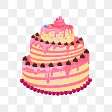 Cartoon Birthday Cake Cake Cupcake Hand Painted Birthday Cake Cake Clipart Cake Decorating Supply Baked Goods Png And Vector With Transparent Background For Cartoon Birthday Cake Creative Birthday Cakes Golden