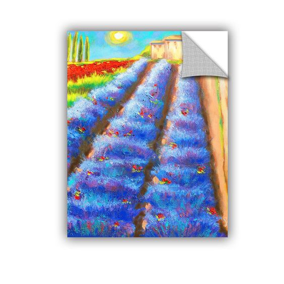 ArtWall ArtAppealz Susi Franco's 'Provence Rows' Removable Wall Art Mural