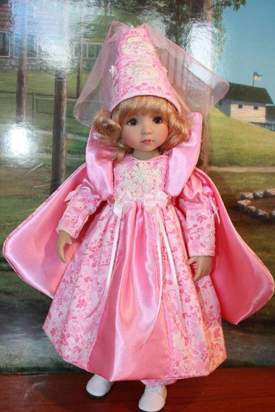 """13"""" Effner's Little Darling's """"PRETTY LITTLE PRINCESS"""" Halloween Dress Ensemble. #DiannaEffner"""