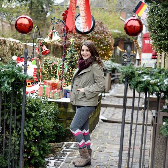 #GermanVillage looks so festive this time of year - staying warm in these @hottotties leggings #myhottotties #hottotties #sponsored