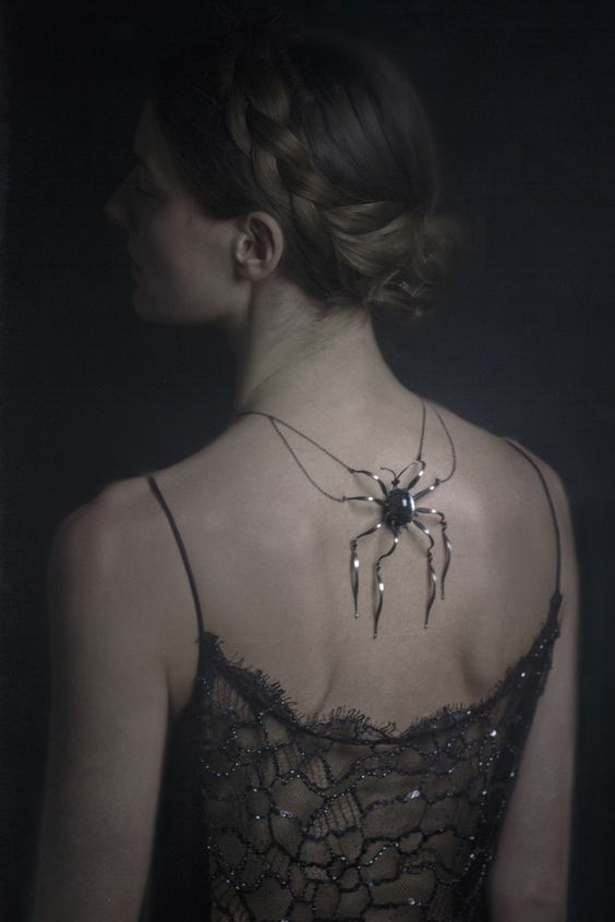 Halloween Gala Celebration....* backside spider adornment *. #gothic princess: