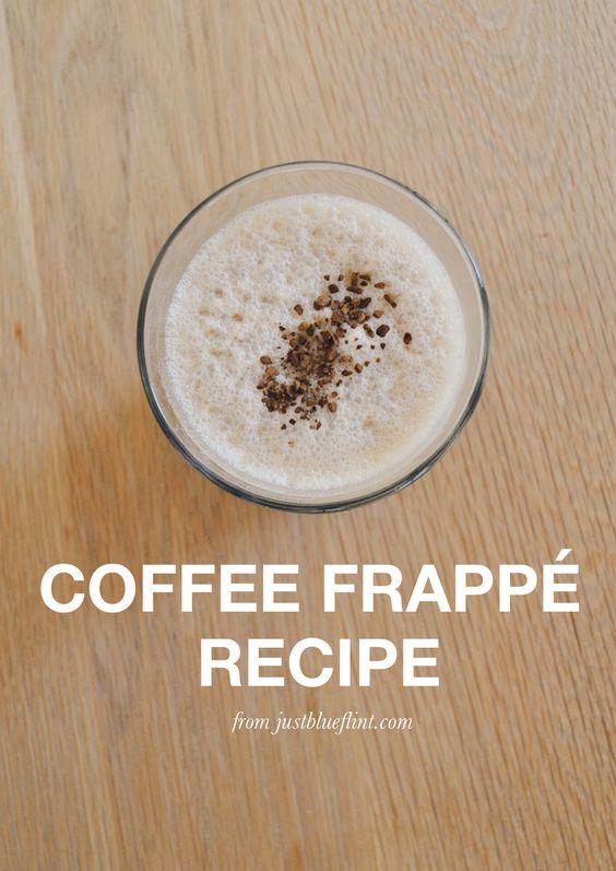 Super easy Coffee Frappe recipe