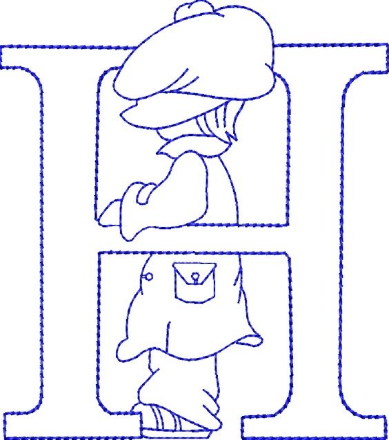 Alfabetos Lindos: Alfabeto riscos ou moldes de letras Sunbonnet Sue bordado: