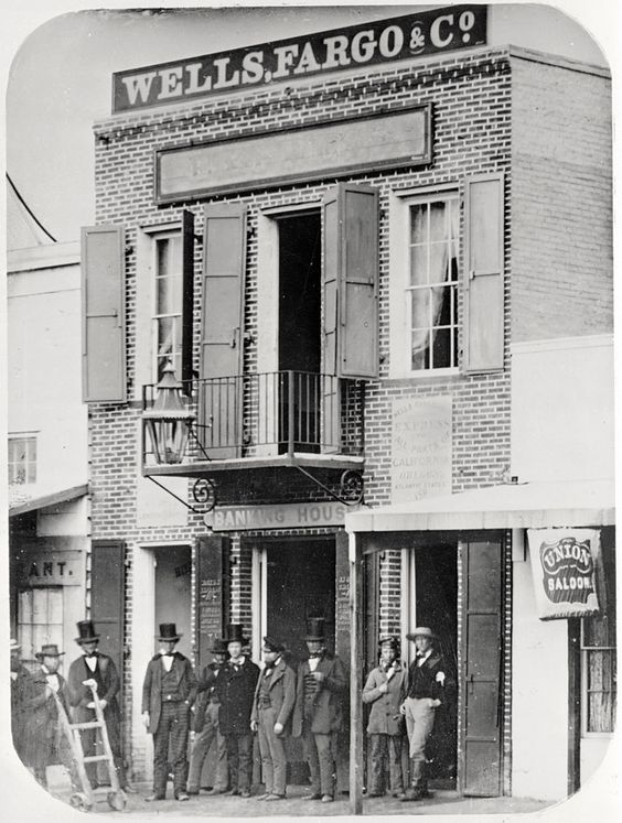 Original Wells Fargo & Company Building East side of Montgomery Street north of California Street. San Francisco, CA, USA, 1850 - 1899