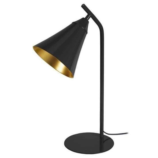 York Lampe A Poser En Metal Abat Jour En Cloche O 16 X H 46 Cm Noir Style Industriel E27 40w Lampe A Poser Lamp Abat Jour