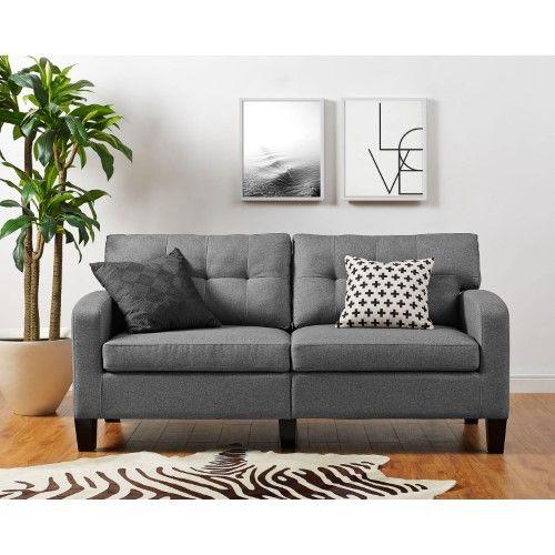 Dorel Living Zakari Sofa Black Sofa Gray Sofa Furniture