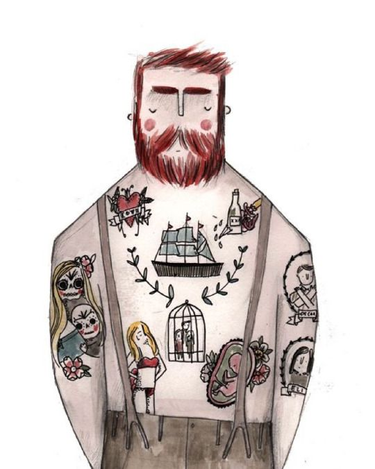 Tattoo man by Grace Easton