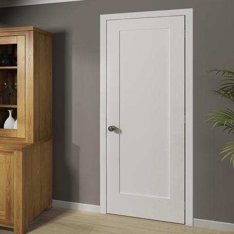 Shaker 1 Panel Solid Core White Interior Door Slab White Interior Doors Doors Interior Modern Doors Interior
