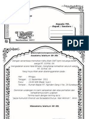 Undangan Walimatul Khitan Doc 2 Doc Undangan Templat Undangan Jenis Huruf Tulisan