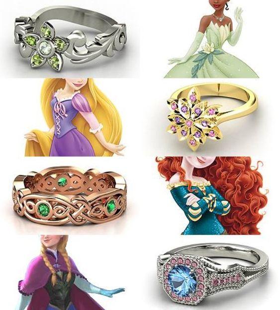 Disney Princess Promise Rings: Merida, Disney Inspired And Rapunzel On Pinterest