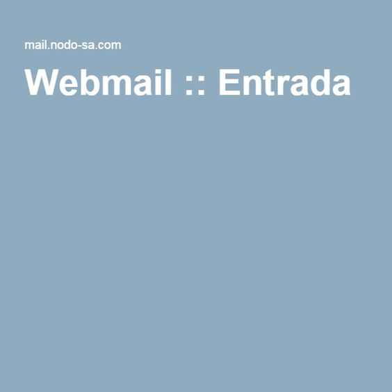 Webmail :: Entrada