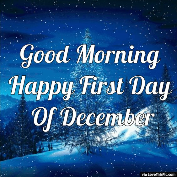 Good Morning Happy First Day Of December Gif Quote