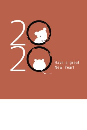Pin By Sun Seed On Year Of The Rat Chinese New Year Card New