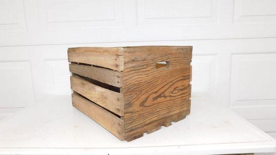 Vintage Fruit Crate Large Wood Vintage Fruit Box Potato Crate