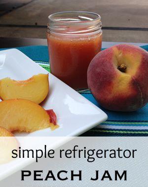 Peach Refrigerator Jam Recipe. 4 ingredients. No canning. #jam #jelly
