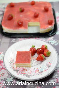 Blog di cucina di Aria: Trancetti alla mousse di yogurt e gelée di fragola