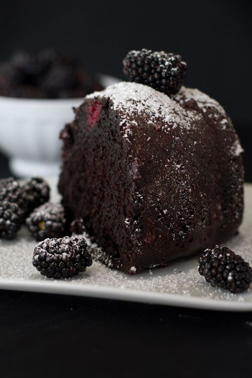 Blackberry Chocolate Bundt Cake ... and more delicious cake recipes where this came from!:
