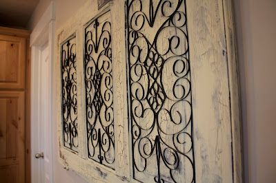 Old antique door makes an awesome wall hanging!