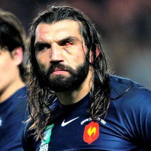 Sebastien Chabal the scariest man playing rugby.